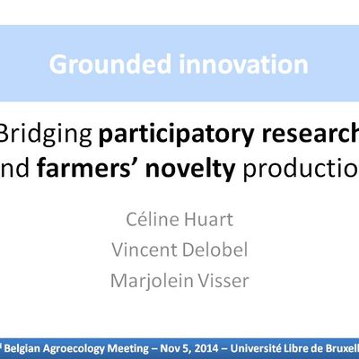 #BAM14: Participatory research & farmers' novelty production