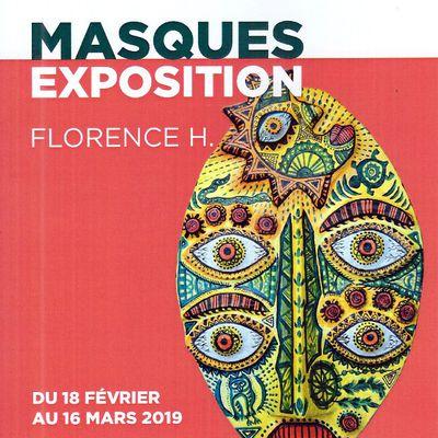 Exposition de masques en papier-mâché du 18 Février au 16 mars 2019 à Montpellier