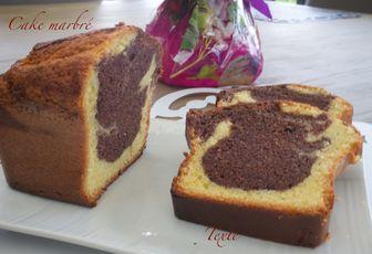 Cake mabré au chocolat