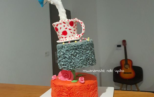 Defying gravity cake