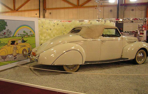 Tintin et les voitures: la LINCOLN Zephir