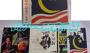 U2 PROGRAMME LOVE COMES TO TOWN TOUR + 2 CD BONUS LIVE