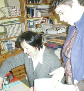 participation aux ateliers de Josiane Perretto chez ''Cadre à Part'' coupe et finitions à domicile