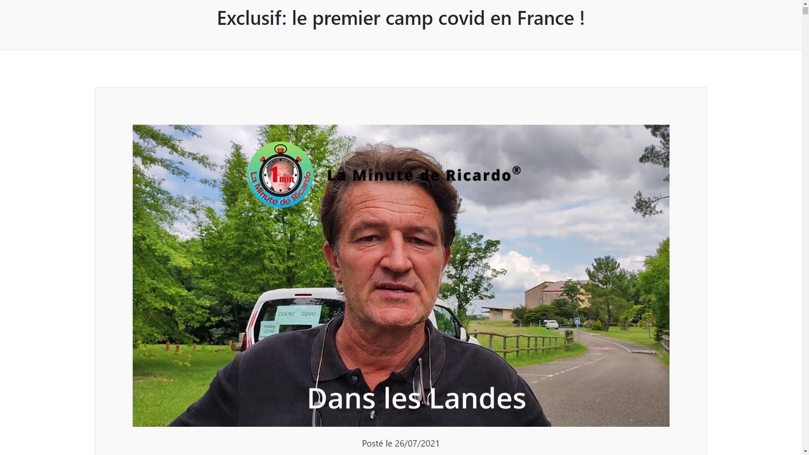Source: https://www.laminutedericardo.com/LMDR/exclusif-le-premier-camp-covid-en-france/