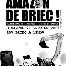 Mobilisation contre l'implantation d'AMAZON à Briec (Finistère)