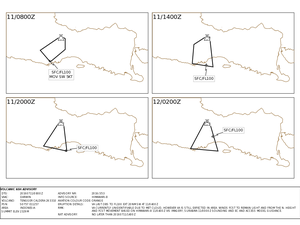 Volcanic ash advisory for Bromo / Tengger - doc. VAAC Darwin  - a click to enlarge.