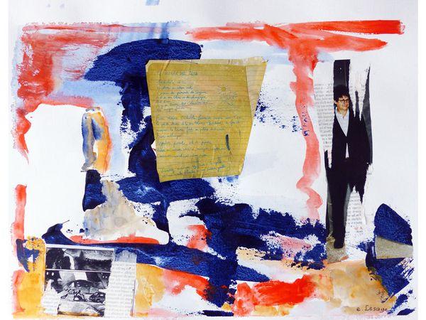 Peintures et collages d'Elisabeth Lesage 2014