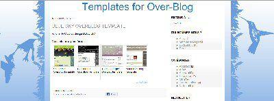 Blue Sky OverBlog Template