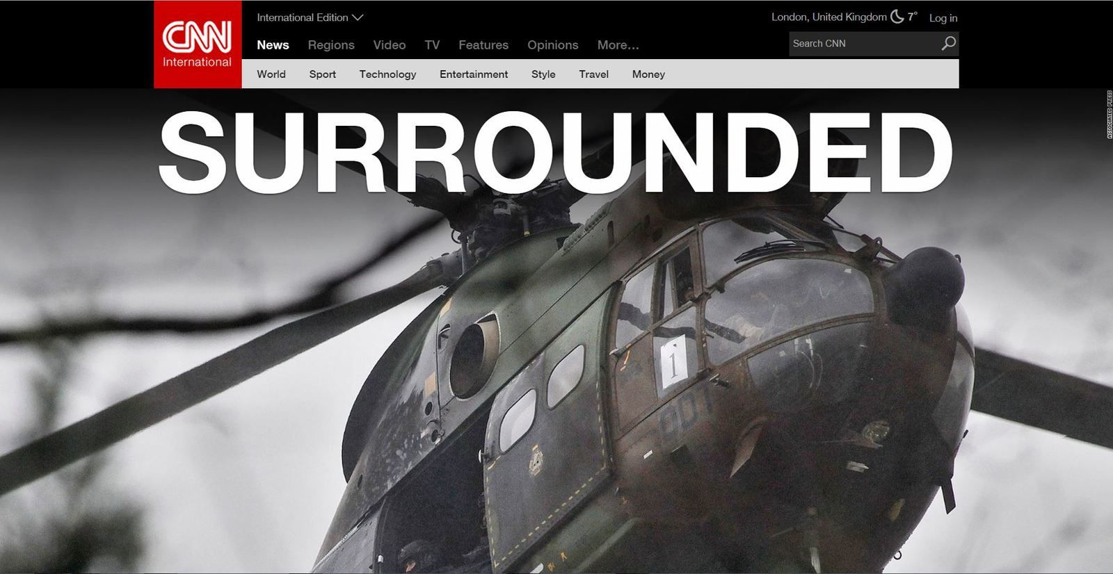 "CNN claims : ""SURROUNDED"""