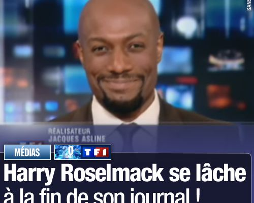 Harry Roselmack se lâche à la fin de son journal !