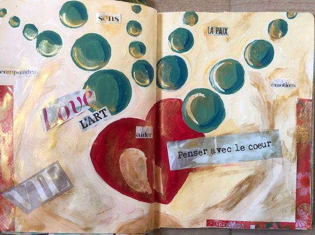 Les 5 autres  pages de la semaine de Christelle Vauthrin, Artiste Peintre et Praticienne ECC