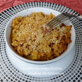 Gratin de coquillettes à la fondue de poireaux - Recettes autour d'un ingrédient # 43 - Croquant Fondant Gourmand