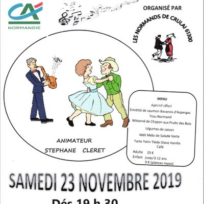SOIRÉE DU 23  NOVEMBRE 2019