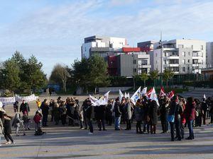 grève et rassemblement du 23 janvier à Cergy : photos et bref compte-rendu d'audience