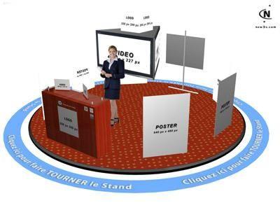 Stands 3D du 3D Trade Center