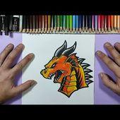 Como dibujar un dragon 🐲 paso a paso 30 | How to draw a dragon 🐲 30