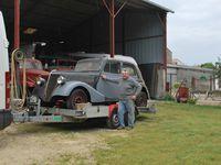 crédit photos : Alain CHAUSSADE - le véhicule à son arrivéé au hangar.