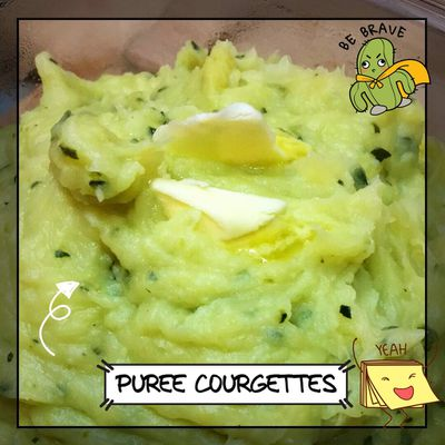 PUREE DE COURGETTES ( #THERMOMIX) (#COOKEO)