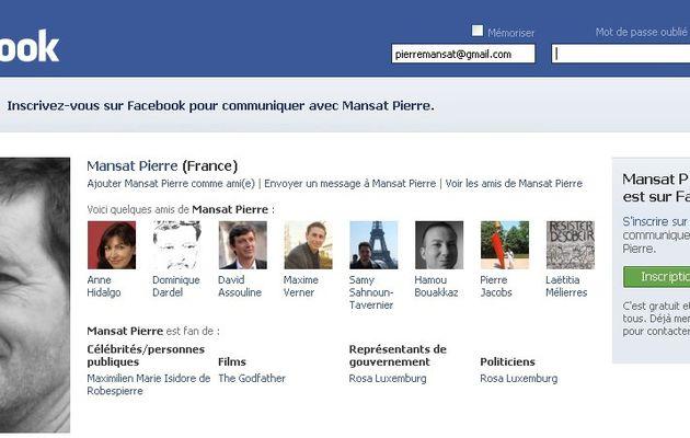 > Pierre Mansat & le groupe Paris Métropole sur Facebook