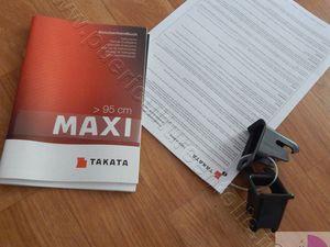 TEST SIEGE AUTO TAKATA MAXI ISOFIX GROUPE 2/3 15/36KGS