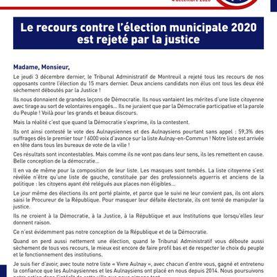 Le recours contre l'élection municipale 2020 de Bruno Beschizza à Aulnay-sous-Bois rejeté par la justice !