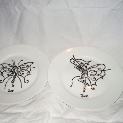 assiette au fée papillon