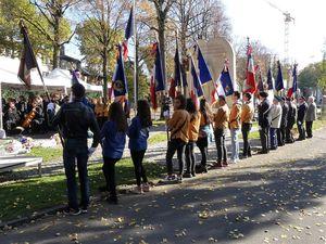Dépôt de la Gerbe AACCE, Catherine Vieu-Charier, les portes-drapeaux