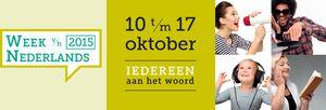 L'instant néerlandais du jour (2015_10_13): de week van het Nederlands duurt tot 17 oktober