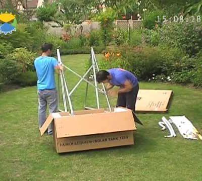 Vidéo de montage d'un chauffe-eau solaire à thermosiphon