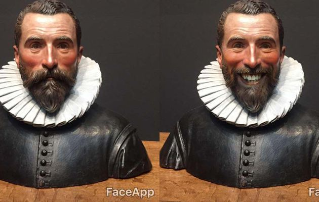 Just say cheeeeez... Oops, just say FaceApp !