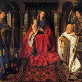 Jan van Eyck - La Madone au Chanoine Van der Paele - LANKAART