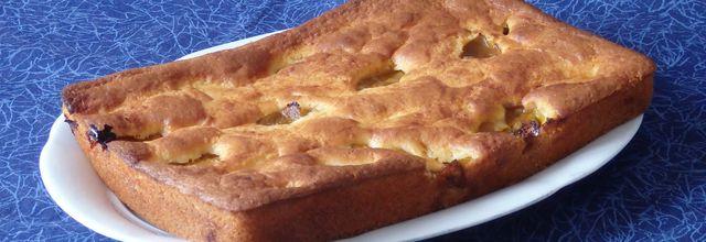 Gâteau au lait ribot et aux prunes Reine Claude