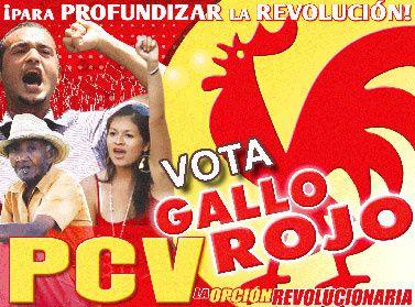 Approfondir la révolution en votant communiste aux élections législatives du 26 septembre au Vénézuela: les 12 propositions-clés du Parti communiste du Vénézuela (PCV)
