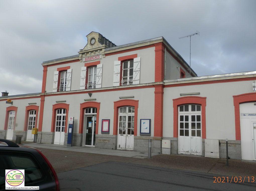 Les gares d'Avranches et de Pontorson l Photos du Collectif