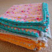 thistlebear: Crochet-edged receiving blankets