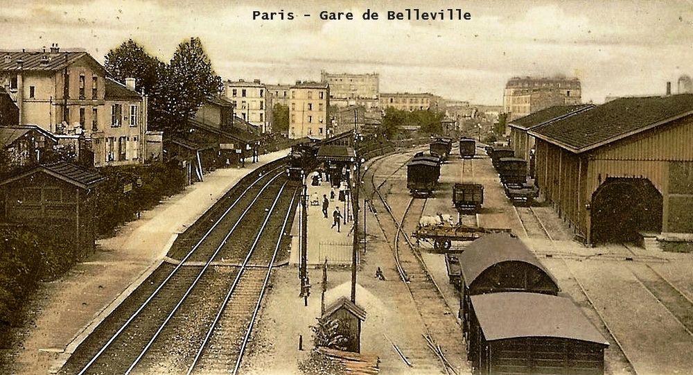 Paris petite ceinture Gare de Belleville
