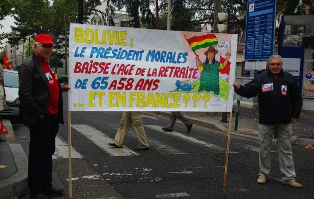 Retraites : manifestation à Lyon, le 19/10/10
