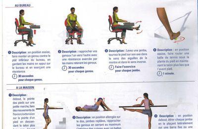 Quelques exercices pour soulager vos jambes au bureau ou à la maison
