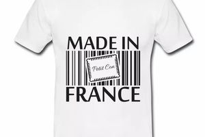 T shirt blanc homme Humour petit con Made in France