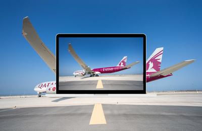 Qatar Airways dévoile son premier appareil aux couleurs de la Coupe du Monde de la FIFA Qatar 2022TM