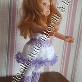 tuto gratuit poupée :jupe bicolore pour l'hiver - Chez Laramicelle