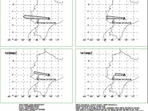 Sangay - volcanic ash advisory for 09 and 10.06.2020 - Doc VAAC Washington - one click to enlarge