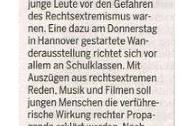 """Harke 8.11.13 -- VS zeigt in Hannover Wanderausstellung zu Rechts""""extremismus"""" - Inlandsgeheimdienst immer noch in Sachen Bildung unterwegs"""