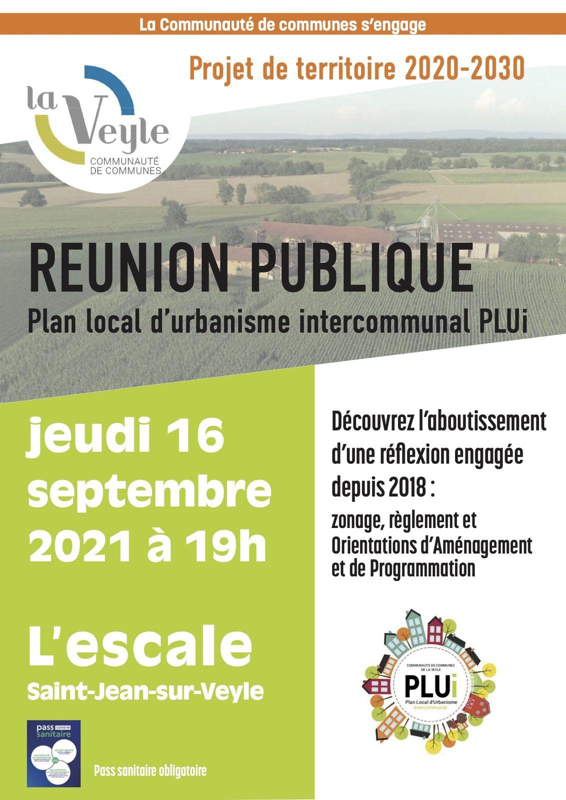 RÉUNION PUBLIQUE D'INFORMATIONS SUR LE PLUI