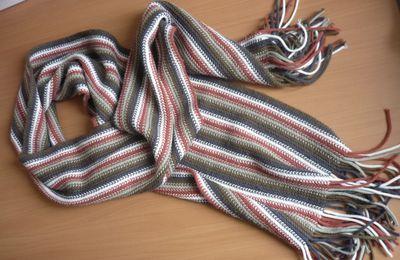 Transformation d'une écharpe en snood