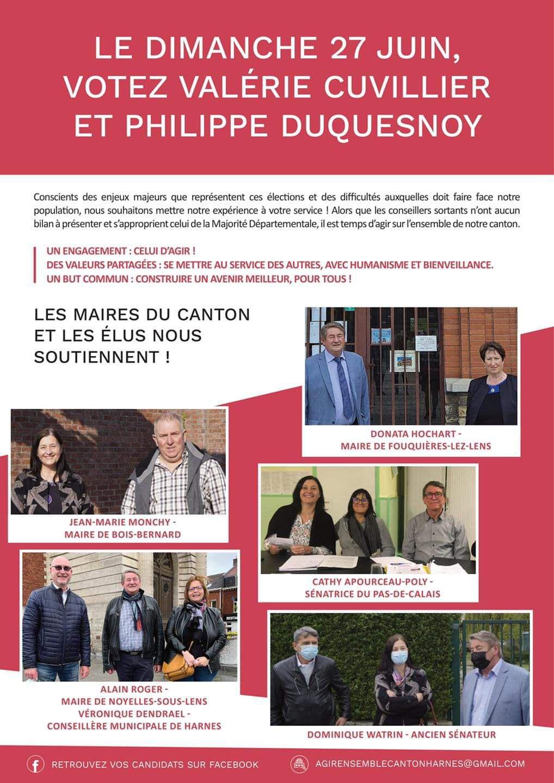 Élections départementales : dans le canton de Harnes, la gauche unie peut battre le RN