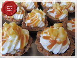 Mini Cheesecakes pommes & Caramel au beurre salé