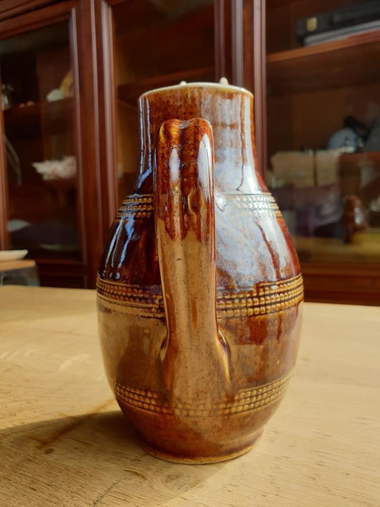 Pichet verseuse grès du Berry du Chat Botté medieval artcraft - 10 euros