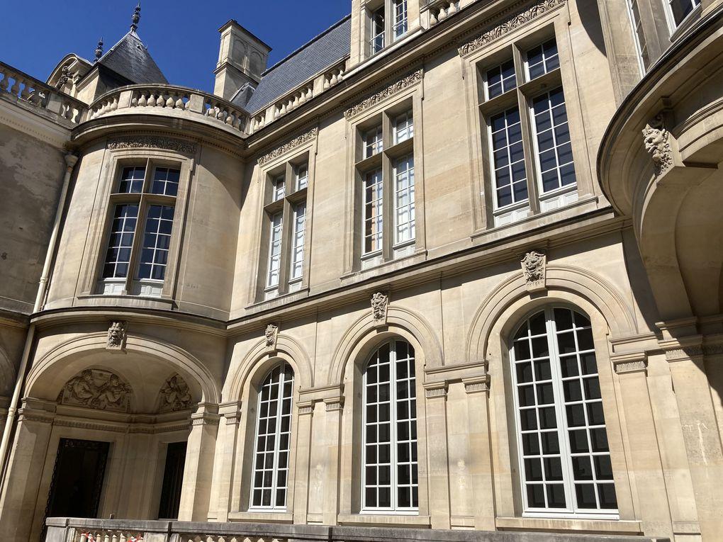 Carnavalet architecture - cour Henri IV - cour d'honneur - salle de bal Wendel