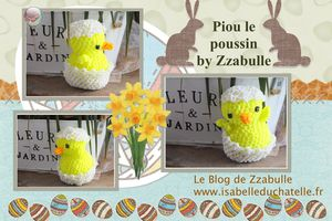 Le poussin Piou - easter chick - loomigurumi